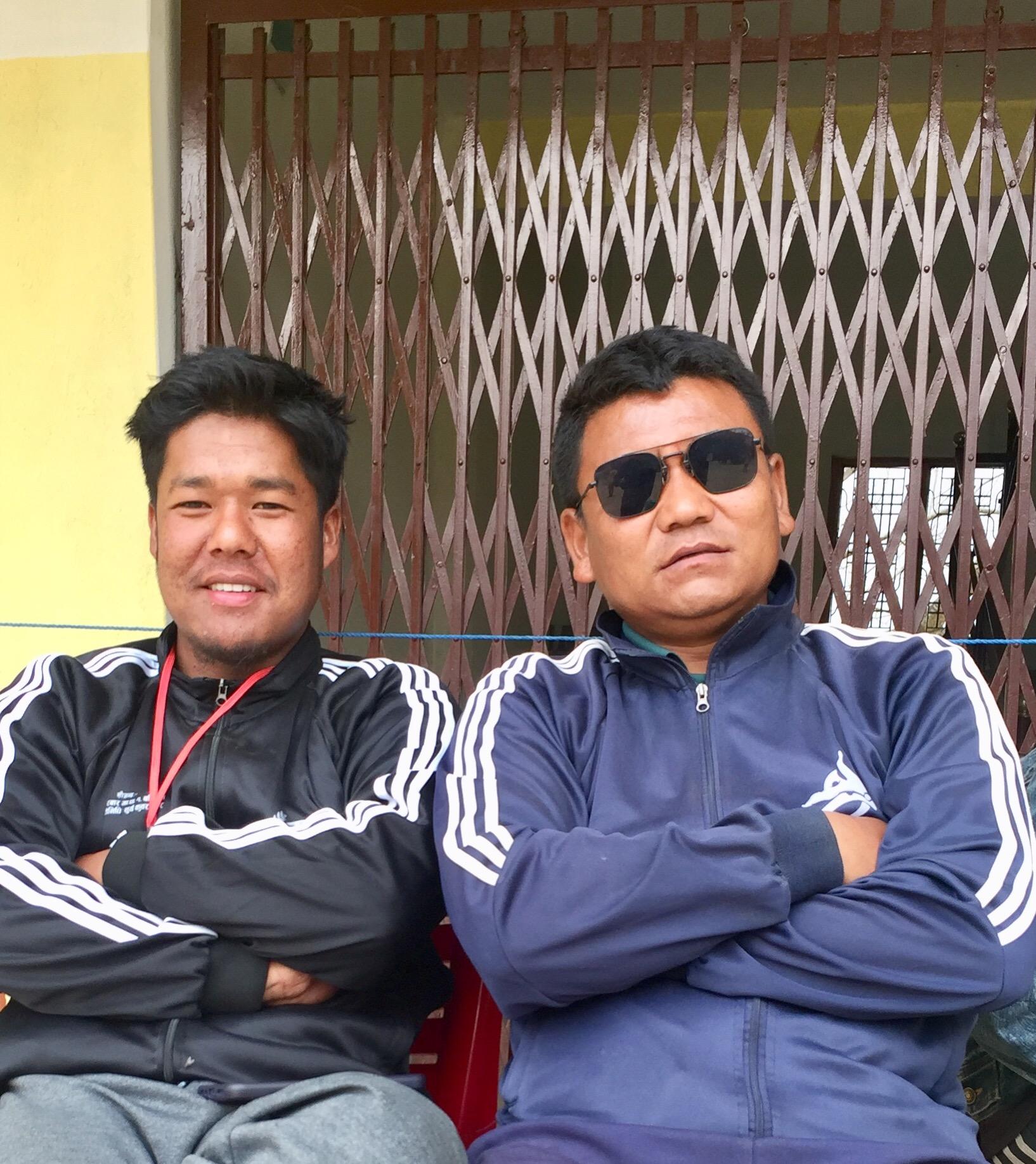 <figcaption>लुम्बिनी प्रादेशिक रेफ्रीहरू क्रमश नबिन छन्तेल र शोम दर्लामी</figcaption>