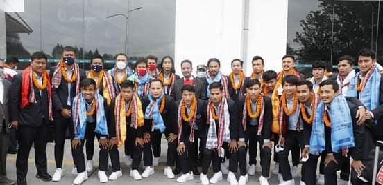 साफ च्याम्पियनसिप उपविजेता टोलीकाे काठमाडौंमा भव्य स्वागत
